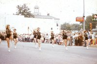 Marching Band Majorettes in Homecoming Parade