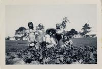 Beverly Jean Fogarty with Students in Garden