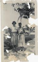 Beverly Jean Fogarty and Mrs. Johnson (?), Bay Haven Elementary School