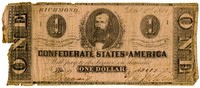 One Dollar Note, 1862