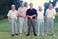 John Keith, Sr., John Keith, Jr., Doug Martin, Don Fauls, and Ernie Lanford, at the Dick Howser Memorial Golf Tournament