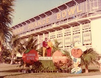 Bobby Bowden and Don Fauls at the Miami Orange Bowl 1981, Florida State vs. Oklahoma