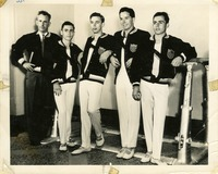 Coach Hartley Price, Carmine Regna, Bill Roetzheim, an Unidentified Gymnast, and Joe Regna