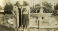 Mary Jayne Medlin With Her Mother at the Main Fountain