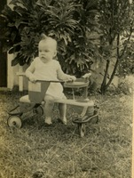Baby On A Toy Tractor