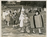 Costumed Students At Blessed Sacrament School Carnival