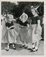 Three Costumed Students At Sealey Elementary School