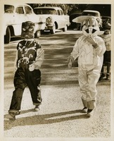 Two Costumed Students At Sealey Elementary School