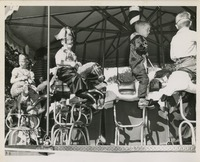 Costumed Students On A Merry-Go-Round At Sealey Elementary School