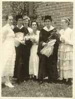 Marion Coleman and Elsie Hargrave with Friends at Commencement 1918