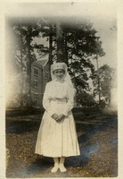Alice Mosier in a White Uniform