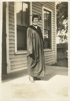 Clarissa Rolfs in Cap and Gown