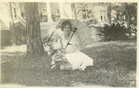 Alice Mosier with a Parasol