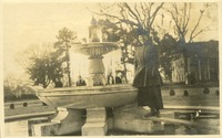 Cora Gray at the Frozen Administration Fountain