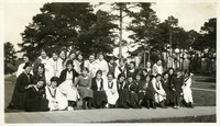 Class of 1921 Gathered Outdoors