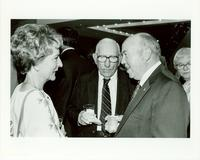 Claude Pepper attending a reception with Hal Wilkins and Charlotte Dickson