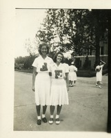 Anna Giese and Marian Welch in F Club Uniforms