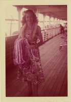 Unidentified Woman On A Ship