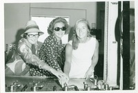 Shirley Marshall with Two Other Women Operating the Panama Canal Lock