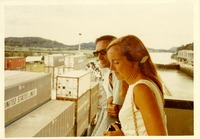 Stanley Marshall and a Woman Overlooking the Panama Canal