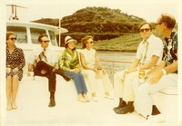 Stanley Marshall, Shirley Marshall and Lawton Chiles on a boat with Others on the Panama Canal