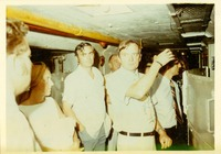 Stanley Marshall, Lawton Chiles with Others on a Tour of the Panama Canal