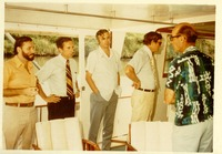 Stanley Marshall, Lawton Chiles with Others on a Boat