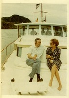 Shirley Marshall Having a Conversation with a Man on a Boat Cruise