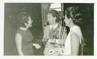 Shirley Marshall Talking with Two Women