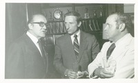 Stanley Marshall with Two Unidentified Men at a Party