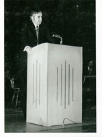 Man Giving a Speech at Commencement