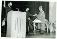Stanley Marshall Presenting a Diploma at Commencement