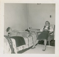 Two Women in a Dorm Room