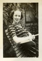 Florence Gregory Sitting Outdoors