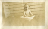 Baby Florence in a Washing Bowl