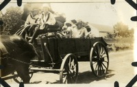 Group of Women Riding in a Carriage in Miccosukee