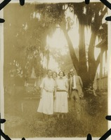 Emilie, Fannie, and Julius Blackburn with Fourth Person