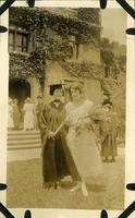 Florence Pierpont in Graduation Garb with E. Byrd Taylor
