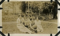 Five Women Sitting on Lawn
