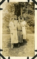 Five Women Standing on Lawn