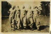 Group of Five Women Standing Outside in Costumes