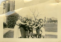 Six Unidentified Women Posing on F.S.C.W. Campus