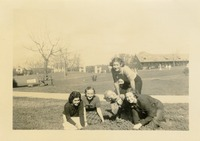 Five Women on a Lawn