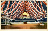 Decorations for a Dance, Interior of Armory, U.S. Naval Academy, Annapolis, Maryland