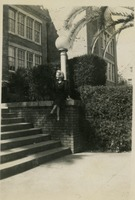 Patricia Crowley in Front of Westcott Building
