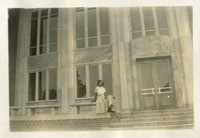 Janie Mattison in Front of the Brand New Music Building