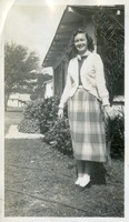 Marjorie Fogarty in Front of Her House in Tallahassee