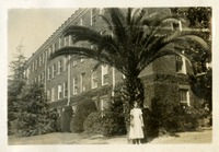 Janie Mattison Standing in Front of Broward Hall