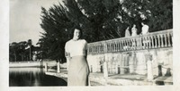 Marjorie at Ringling Mansion, Sarasota, Florida