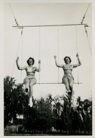Two Circus Students on a Trapeze